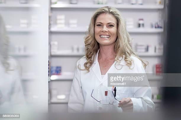 Pharmacist at pharmacy dispensary