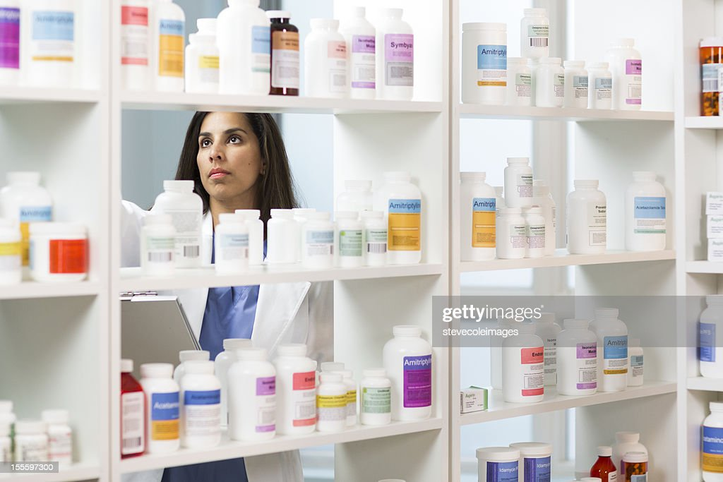 Pharmacist. : Stock Photo