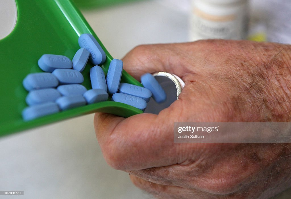 A pharmacist pours Truvada pills back into the bottle at Jack's Pharmacy on November 23, 2010 in San Anselmo, California. A study published by the New England Journal of Medicine showed that men who took the daily antiretroviral pill Truvada significantly reduced their risk of contracting HIV.