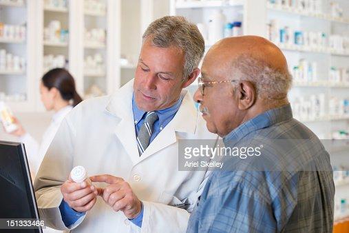 話す薬剤師の顧客の設定