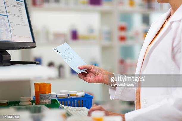 Pharmacists Fulfilling Prescription