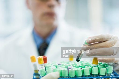 Pharmacologist Selecting Sample