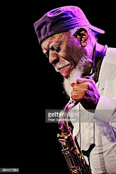 Pharoah Sanders performs at Jazz Middelheim on August 15 2016 in Antwerpen Belgium