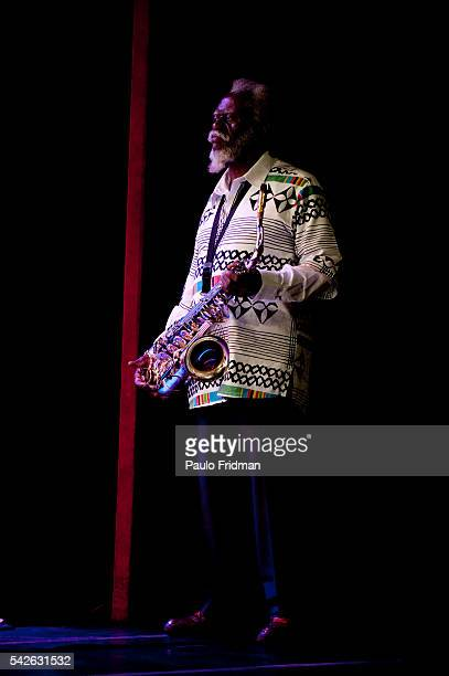 Pharoah Sanders plays at Sesc Pinheiros Sao Paulo Brazil Pharoah Sanders is a Grammy Award winning American jazz saxophonist Ornette Coleman once...
