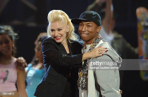 Pharrell and Gwen Stefani perform 'Can I Have it Like That' at the Shrine Auditorium in Los Angeles California