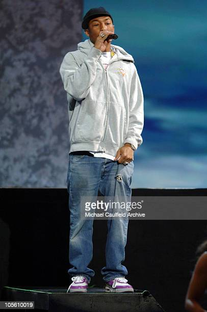 Pharrell performing 'Can I Have it Like That' during 33rd Annual American Music Awards Show at Shrine Auditorium in Los Angeles California United...