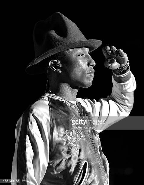 Pharrell performs live at The Riverstage on March 12 2014 in Brisbane Australia