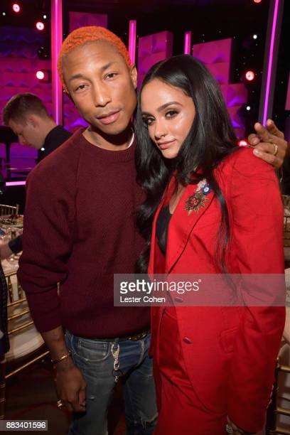 Pharrell Williams and honoree Kehlani attend Billboard Women In Music 2017 at The Ray Dolby Ballroom at Hollywood Highland Center on November 30 2017...