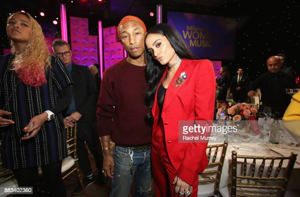 Pharrell Williams and honoree Kehlani attend Billboard's Women in Music 2017 presented in partnership with FIJI Water on November 30 2017 in...
