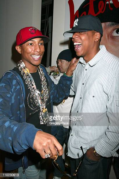 Pharrell Williams and JayZ during Louis Vuitton and Interview Magazine Host Party for Pharrell Williams and Nigo to Celebrate Their Sunglasses...