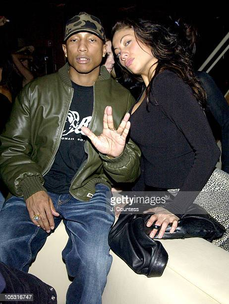 Pharrell Williams and Vidaluna during Grand Opening of Marquee New York's Premiere 'Ultralounge' at Marquee in New York City New York United States