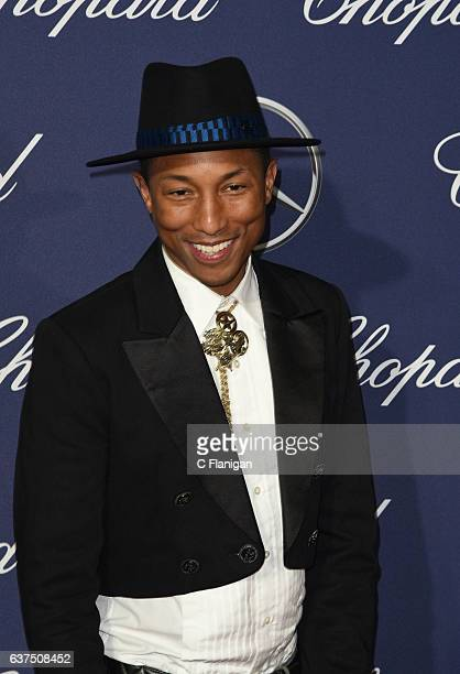 Pharrell Williams arrives at the 28th Annual Palm Springs International Film Festival Film Awards Gala at Palm Springs Convention Center on January 2...