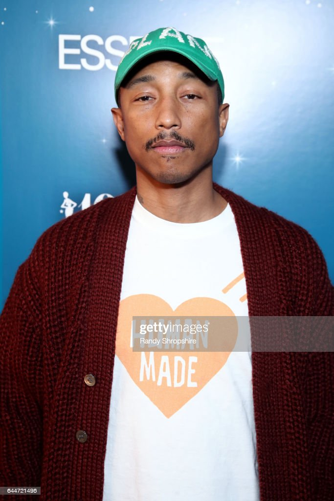 Pharrell Williams at Essence Black Women in Hollywood Awards at the Beverly Wilshire Four Seasons Hotel on February 23, 2017 in Beverly Hills, California.