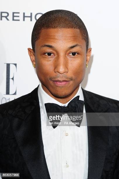 Pharrell Williams at the 2014 Elle Style Awards at The One Embankment London