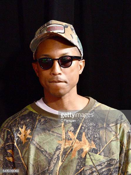 Pharrell Williams attends the 2016 CMT Music awards at the Bridgestone Arena on June 8 2016 in Nashville Tennessee