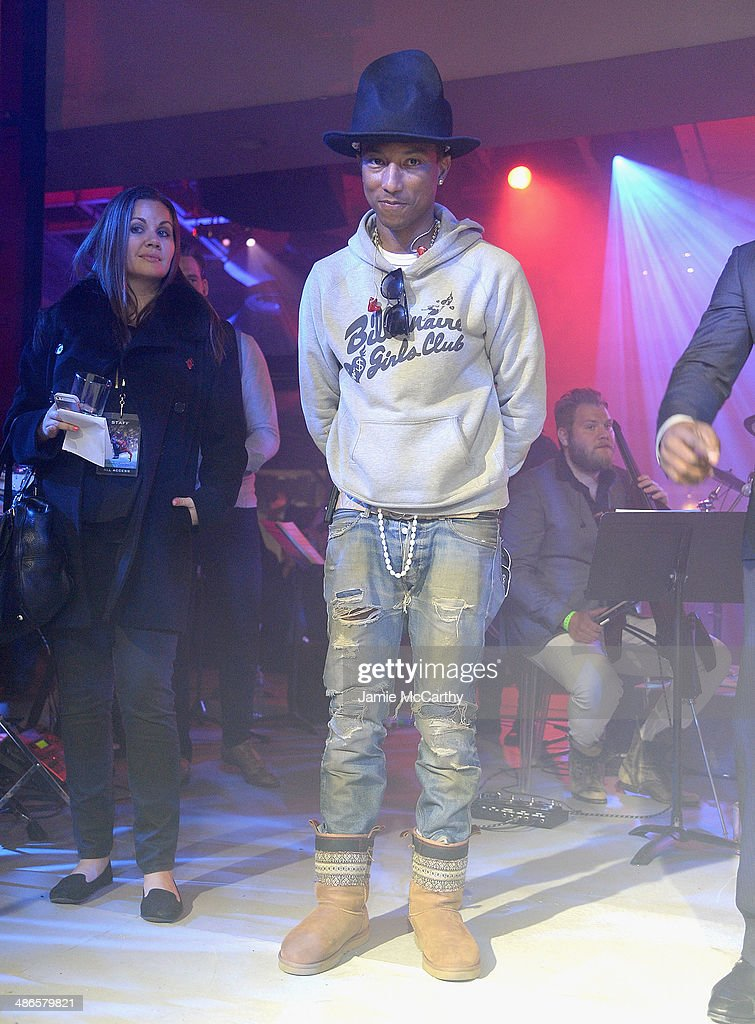 <a gi-track='captionPersonalityLinkClicked' href=/galleries/search?phrase=Pharrell+Williams&family=editorial&specificpeople=161396 ng-click='$event.stopPropagation()'>Pharrell Williams</a> attends the after party for 'The Amazing Spider-Man 2' premiere at Skylight at Moynihan Station on April 24, 2014 in New York City.