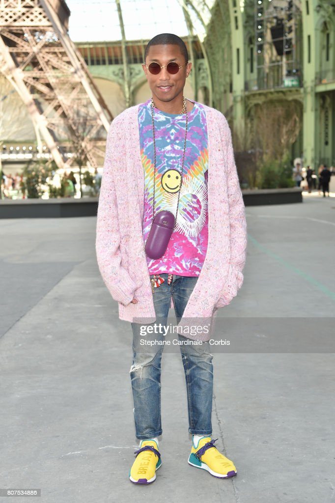 Pharrell Williams attends the Chanel Haute Couture Fall/Winter 2017-2018 show as part of Haute Couture Paris Fashion Week on July 4, 2017 in Paris, France.