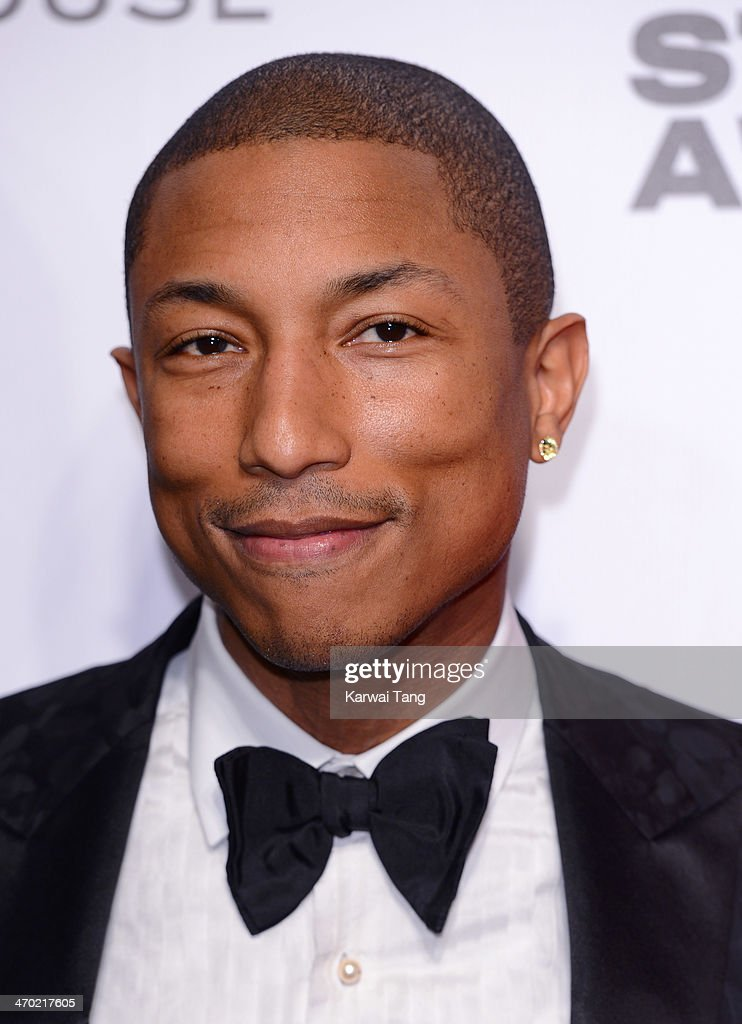 <a gi-track='captionPersonalityLinkClicked' href=/galleries/search?phrase=Pharrell+Williams&family=editorial&specificpeople=161396 ng-click='$event.stopPropagation()'>Pharrell Williams</a> attends the Elle Style Awards 2014 at One Embankment on February 18, 2014 in London, England.