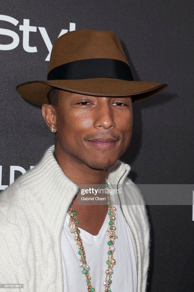 Pharrell Williams attends The Hollywood Foreign Press Association (HFPA) And InStyle Celebrates The 2014 Golden Globe Awards Season at Fig & Olive Melrose Place on November 21, 2013 in West Hollywood, California.