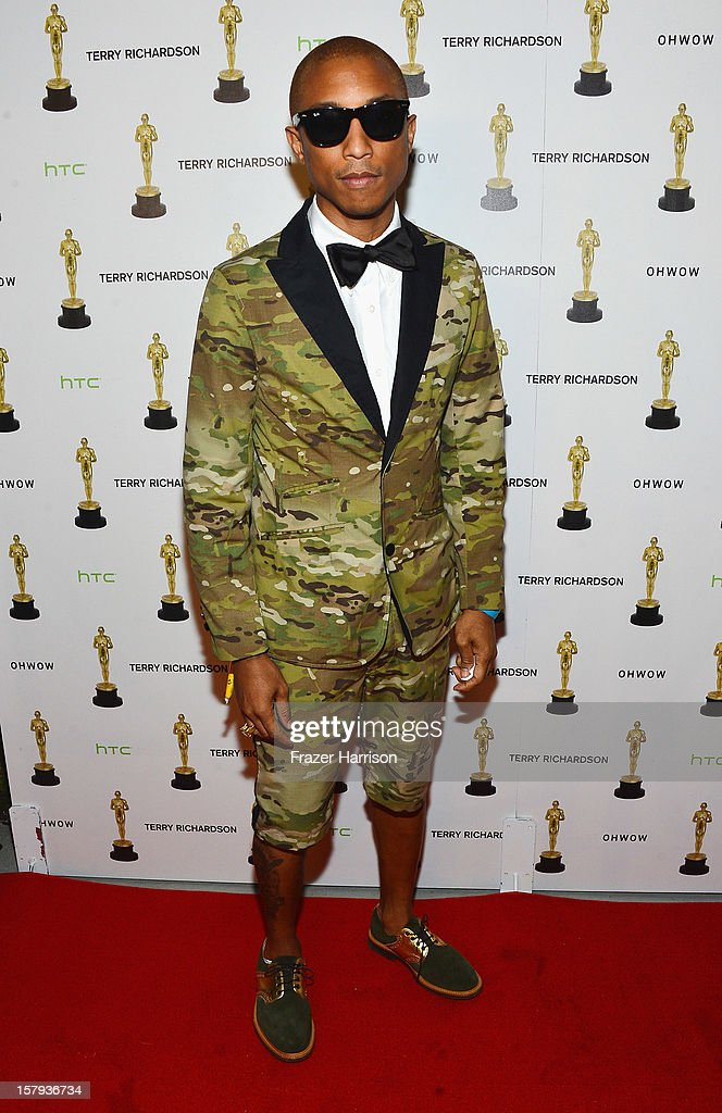 <a gi-track='captionPersonalityLinkClicked' href=/galleries/search?phrase=Pharrell+Williams&family=editorial&specificpeople=161396 ng-click='$event.stopPropagation()'>Pharrell Williams</a> attends the OHWOW & HTC celebration of the release of 'Terrywood' with Terry Richardson at The Standard Hotel & Spa on December 7, 2012 in Miami Beach, Florida.