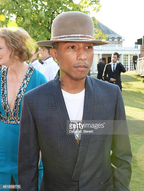 Pharrell Williams attends The Serpentine Gallery Summer Party cohosted by Brioni at The Serpentine Gallery on July 1 2014 in London England