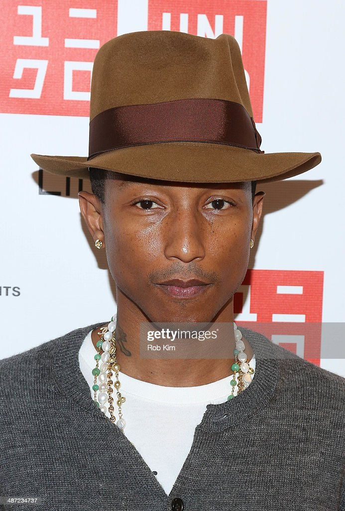 Pharrell Williams attends the UNIQLO 'I Am Other' collection launch at UNIQLO New York 5th Avenue Global Flagship Store on April 28 2014 in New York...
