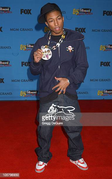 Pharrell Williams during 2005 Billboard Music Awards Arrivals at MGM Grand in Las Vegas Nevada United States