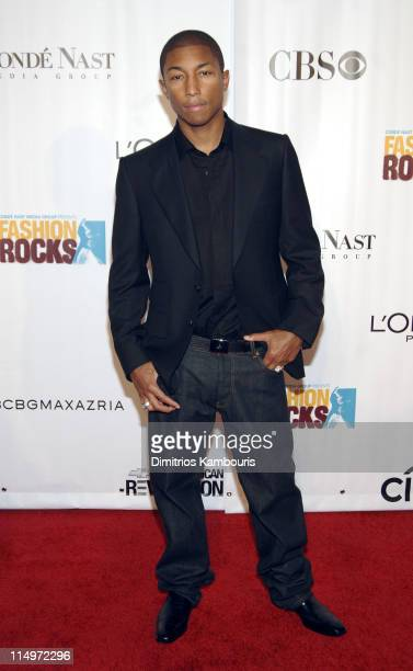 Pharrell Williams during 2005 Fashion Rocks Arrivals at Radio City Music Hall in New York City New York United States