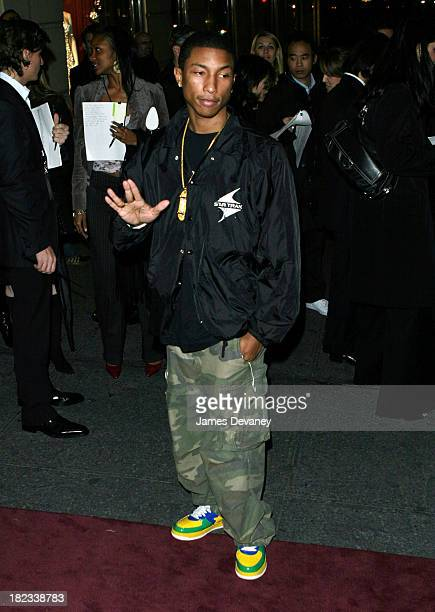 Pharrell Williams during Dolce Gabbana Ultimate Hollywood Party in New York City Outside at Bergdorf Goodman in New York City New York United States
