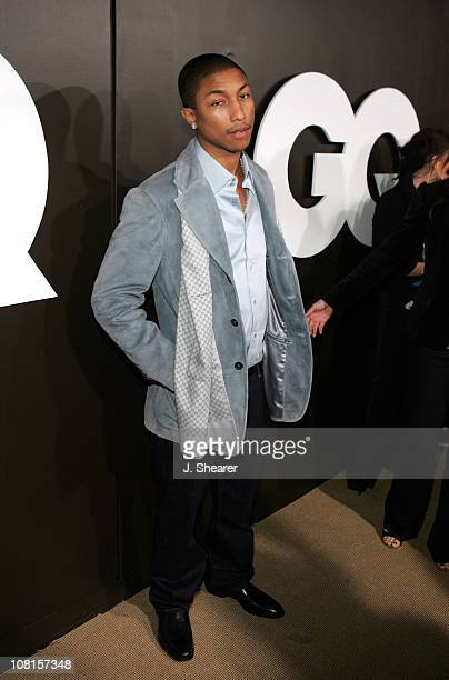 Pharrell Williams during GQ Magazine Celebrates its 2004 Men of the Year Red Carpet at Lucques Restaurant and Ago Restaurant in Los Angeles...