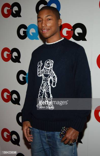 Pharrell Williams during GQ Magazine Celebrates the 2005 Men of the Year Arrivals at Mr Chow in Beverly Hills California United States