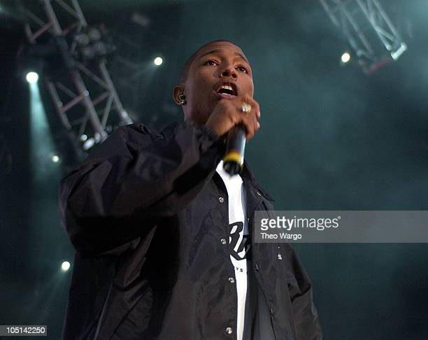 Pharrell Williams during NYC's HOT 97 FM Radio Celebrates Summer Jam X Show at Giants Stadium in East Rutherford New Jersey United States