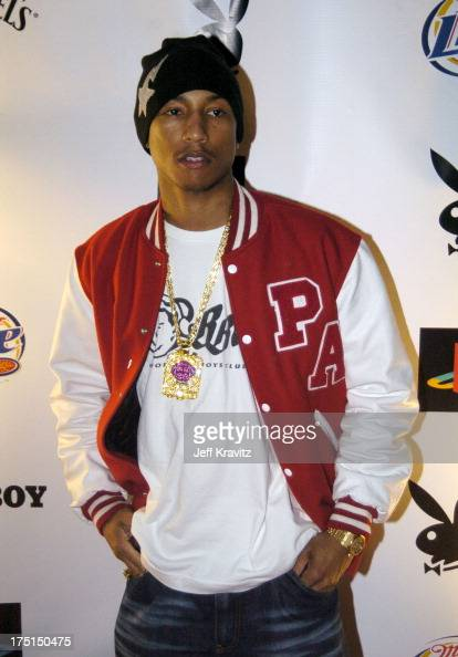 Pharrell Williams during Playboy's 5th Annual Super Saturday Night Event Brings 'Heaven and Hell' to Houston at Corinthian in Houston Texas United...