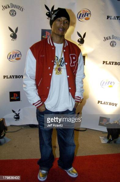 Pharrell Williams during Playboy's 5th Annual Super Saturday Night Event Brings Heaven and Hell to Houston at Corinthian in Houston Texas United...