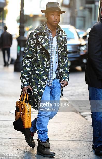 Pharrell Williams is seen in Soho on October 21 2013 in New York City
