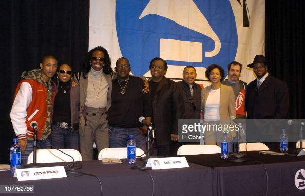 Pharrell Williams MC Lyte Verdine White Randy Jackson Lamont Dozier Ralph Johnson Angela Bibs Sanders Dave Way and Jimmy Jam