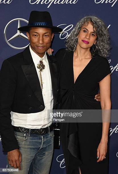 Pharrell Williams Mimi Valdes arrives at the 28th Annual Palm Springs International Film Festival Film Awards Gala at Palm Springs Convention Center...