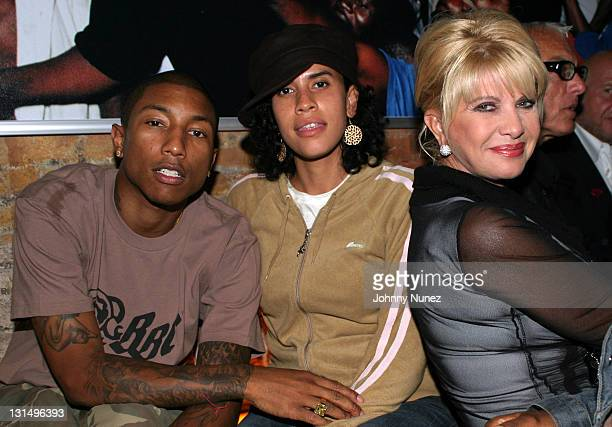 Pharrell Williams Mimi Valdez and Ivana Trump during Rosa Cha After Party Hosted By Naomi Campbell at PM Lounge in New York City New York United...