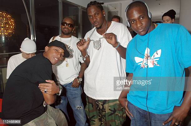 Pharrell Williams of N*E*R*D NIGO Jermaine Dupri Pusha T and Malice of CLIPSE
