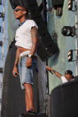Pharrell Williams of NERD performs on stage during day three of Heineken Jammin Festival on July 5 2010 in Mestre Italy