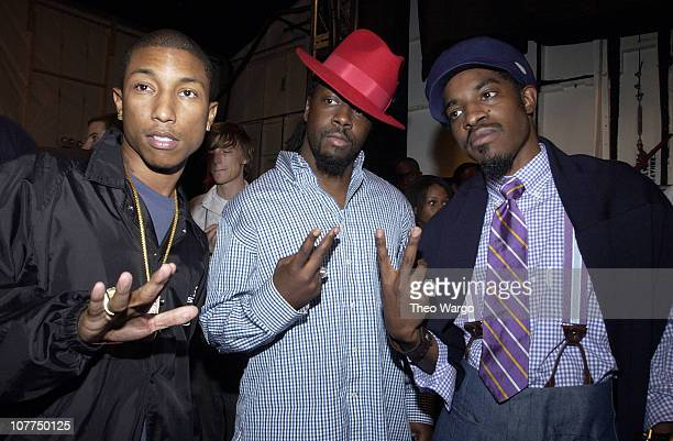 Pharrell Williams of NERD Wyclef Jean and Andre 3000 of Outkast