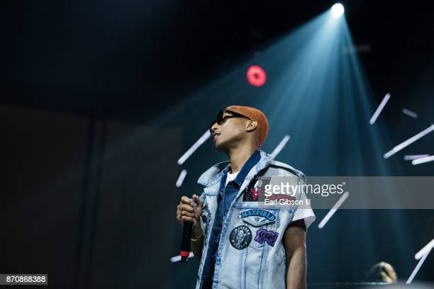 Pharrell Williams performs at ComplexCon 2017 on November 5 2017 in Long Beach California
