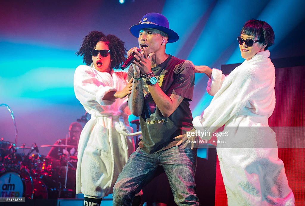 Pharrell Williams performs at Le Zenith on October 13 2014 in Paris France