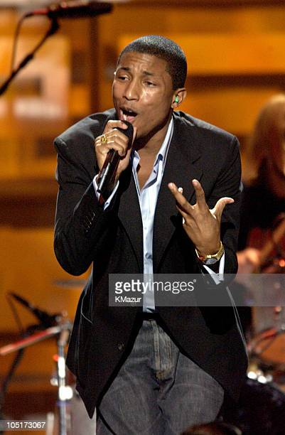 Pharrell Williams performs during Spike TV Presents the 2003 GQ Men of the Year Awards Show at The Regent Wall Street in New York City New York...