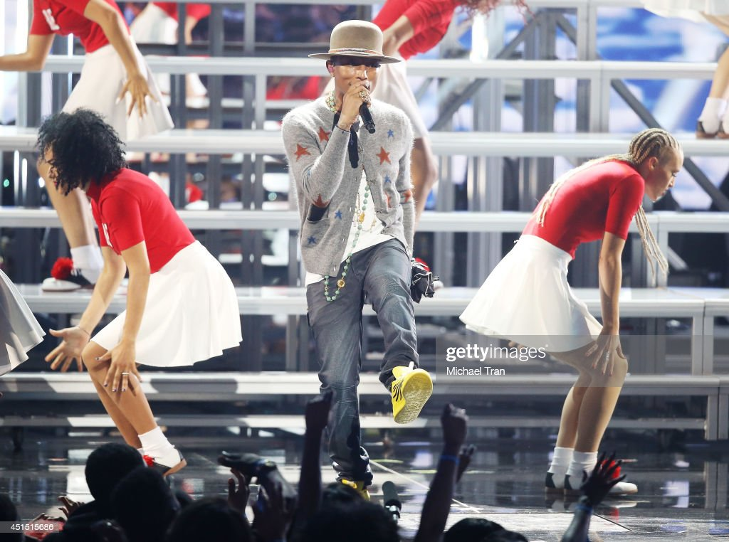 Pharrell Williams performs onstage during the 'BET AWARDS' 14 held at Nokia Theater L.A. LIVE on June 29, 2014 in Los Angeles, California.