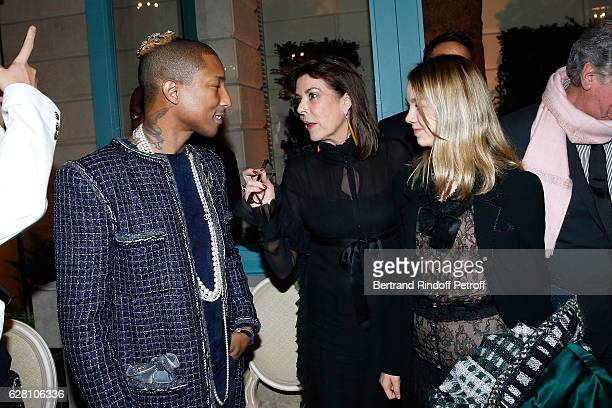 Pharrell Williams Princess Caroline de Hanovre and her daughter Princess Alexandra de Hanovre attend the 'Chanel Collection des Metiers d'Art 2016/17...