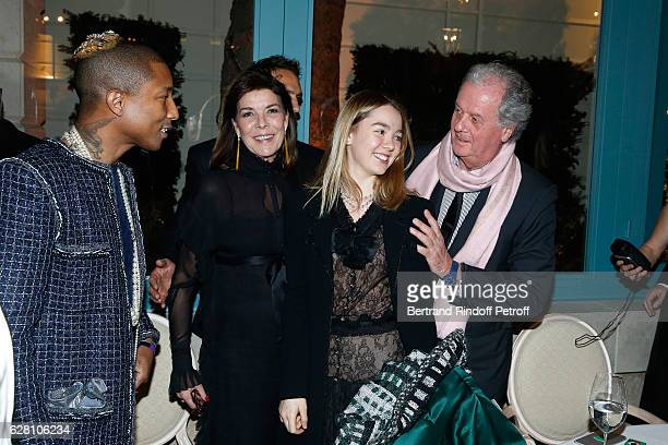 Pharrell Williams Princess Caroline de Hanovre her daughter Princess Alexandra de Hanovre and Jacques Grange attend the 'Chanel Collection des...