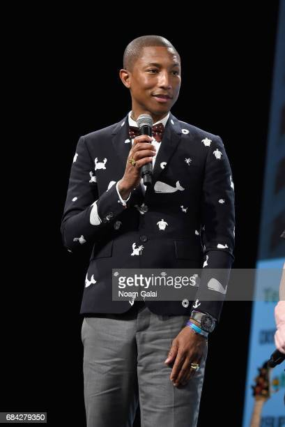 Pharrell Williams speaks onstage during TechCrunch Disrupt NY 2017 Day 3 at Pier 36 on May 17 2017 in New York City