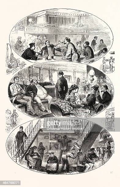 Phases Of Life On Board An Atlantic Steamer Engraving 1876