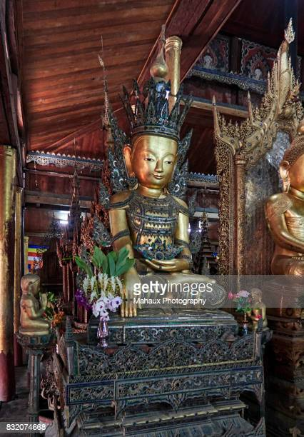 Phaung Daw Oo pagoda, the most sacred place on the Inle lake